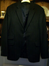 "Burtons navy pinstriped wool blend suit jacket size M (chest 38-41"") excel. con."