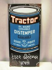 "Vintage Sign Board Porcelain Enamel Tractor Distemper Asian Paint Collectibles """