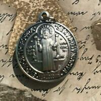 "Saint St Benedict 1.5"" - Medal - Catholic Exorcism - Blessed By Pope - Medalla"