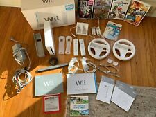 Nintendo Wii Sports Console + MarioCart, Wii Wheels, Remote Charger, orig. Packa