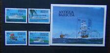 Barbuda 1984 Ships set & Miniature Sheet Fine Used