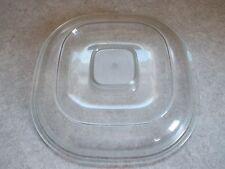 """Plastic Lid 8 3/8"""" Square w/ spoon slot Casserole pot slow cooker Replacement"""