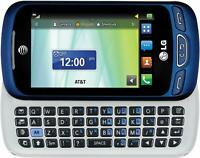 LG Xpression 2 C410 - Blue (Unlocked) GSM 3G Qwerty Keyboard Touch Cell Phone