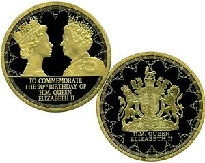QUEEN ELIZABETH II 90th BIRTHDAY  COMMEMORATIVE COIN PROOF LUCKY MONEY $199.95