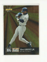 1996 Score Big Bats Ken Griffey Jr. Insert Card #2 Mariners CF HOF!