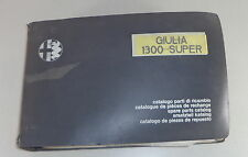 Teilekatalog Alfa Romeo Giulia 1300 Super Stand 04/1971
