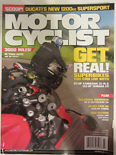 Motorcyclist Magazine July 2006 3000 miles in 3 days Superbikes you can live wit