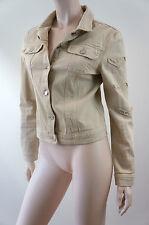 BLUMARINE Jeans Women's Designer Beige Diamante Detail Cotton Summer Jacket  I40