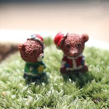 Miniature Christmas Bear Fairy Gardens Micro Landscape Crafts house Decors Tb