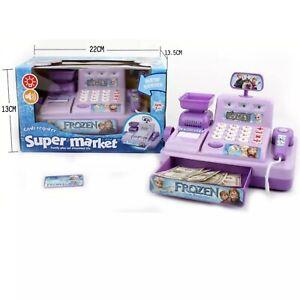 Frozen Kids Cash Register Pretend Play Supermarket Shop Till Toy Play Game Set