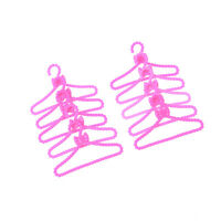 10X Hangers Accessories For  Doll Clothes Dress Skirt Shoes Pretend Gif  WA