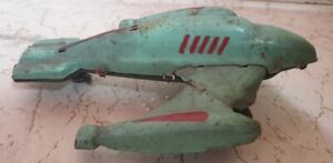 Old Vintage Tin Friction Powered Plane Toy From India 1960