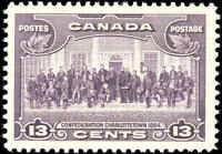 1935 Mint H Canada F-VF Scott #224 13c King George Pictorial Stamp