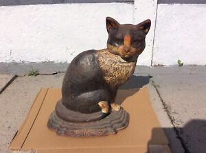 Vintage Cast Iron Cat Door Stopper