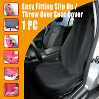 Single Slip On Throw Over Black Seat Covers For Toyota Nissan Holden Mitsubishi
