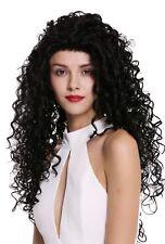 PERRUQUE pour femme lace-front long dense SAUVAGE Boucles Brésil LATINA NOIR