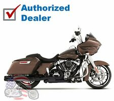 Rinehart Black Slimline True Dual Headers Pipes Exhaust 2017 Harley Touring