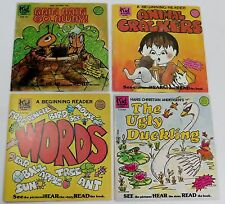LOT of See Hear Read Kid Stuff Story Books w/ Records The Ugly Duckling & More
