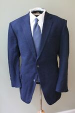 BLUE ME AWAY Richard James Savile Row 100% Cashmere Navy Donegal Tweed 2 Vent 44
