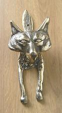 Door Knocker Large Fox Design, Cast Brass, Polished Finish