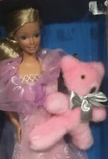 1984 Dreamtime Barbie doll with cuddley bear BB NRFB Superstar face