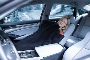 Zento Deals Electric Heated Car 12V Blanket- Polar Fleece Material Road Blanket