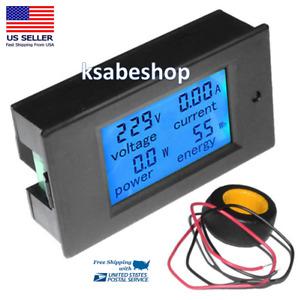 Digital LCD Voltmeter Ammeter AC Voltage Current Power Energy Meter Tester