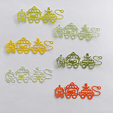 "6  x  Die Cuts ""Sherbet Theme"" Circus Train  #B - Scrapbooking, Cards etc"