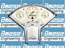 55-56 Chevy Billet Aluminum Dash Panel Insert w/ Auto Meter Antique Beige GPS