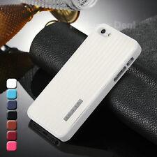 iPhone 5 5s Kunstleder Hülle Case Cover Bumper Tasche Zubehör Apple Weiß +Folien