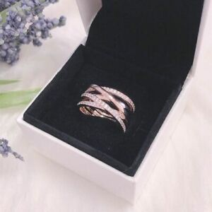 Pandora Authentic Entwining Entwined Rose Gold / Silver Wrap Ring All Sizes  ALE