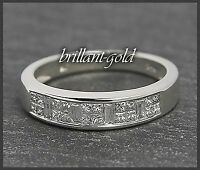 Diamant Damen Ring Eternity Memory 585 Gold 0,72 ct Weißgold, Diamantring Neu