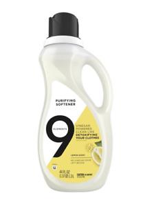 9 Elements Liquid Purifying Fabric Softener, Lemon Scent, 44 Fl. Oz.