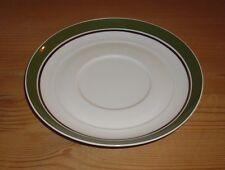 Thomas Porzellan  1 Untere, Untertasse für Suppentasse, weiß-grün, Platinrand