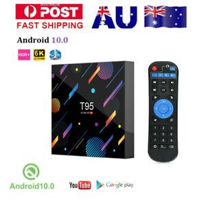 T95 Android 10.0 4+64G 6K Quad Core Smart TV BOX WIFI 64Bit CPU Player