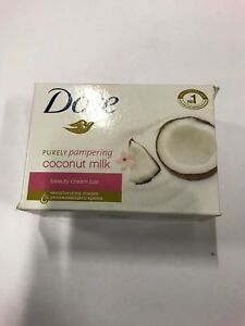 Lot of 48 Dove Coconut Milk Moisturizing Beauty Cream Bar Soap 135 gr
