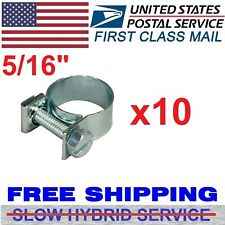 "10Pcs 5/16"" Fuel Injection Gas Line Hose Clamps Clip Pipe Auto Vacuum Coolant US"