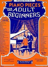 Piano Pieces For Adult Beginners Piano Sheet Music Instrumental Album