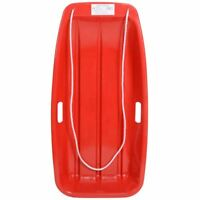 Large Plastic Sliding Snow Sledge Toboggan With Rope Winter Outdoor Toys Age 6+