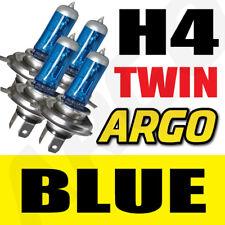 H4 SUPER BLUE VISION XENON HALOGEN BULB 55 WATT TWIN 4 X