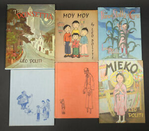SIGNED Leo Politi Lito Mieko Moy Piccolo Poinsettia Corn Books Vintage Lot 6x