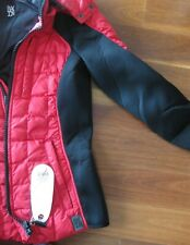 NEW Designer 'Bacon'. Red Warm Winter Puffer Ski Jacket - Sz XS 6 8 NWT
