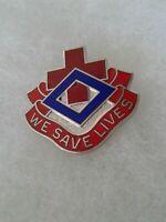 Authentic US Army 148th Evacuation Hospital DI DUI Insignia Crest NH