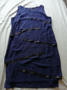M&Co mco BNWT Flapper Style Dress Size 12 RRP £45 midnight blue