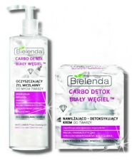 BIELENDA Cream +  micellar gel WHITE CARBON diamond powder & white clay SET KIT