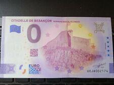 BILLET EURO SOUVENIR 2021-3 CITADELLE DE BESANÇON ANNIVERSAIRE