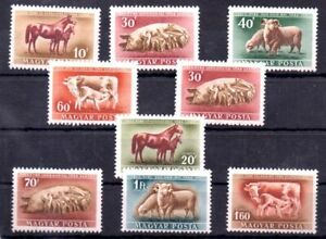 Old stamps of Hungary 1951 # 1150-1157  MNH  ANIMALS