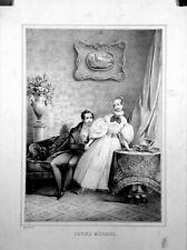 """Lithographie d'après Eugene ANDRE , """"Jeune Ménage"""""""