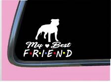 """Pitbull Uncropped Sticker Tp 807 Best Friend 6"""" Decal Bully"""