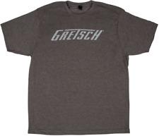 Gretsch Logo T-Shirt Meliert Brauner Groß